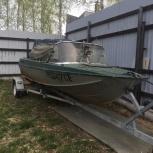 Продаю лодку казанка 5м, с двигателем меркури 50 л., Екатеринбург