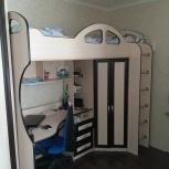 Подростковая кровать чердак со столом, шкафом, Екатеринбург