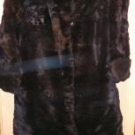 Шуба кроличья, женская длинная, цвет черный, Екатеринбург