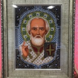 Икона бисером Николая Чудотворца, Екатеринбург