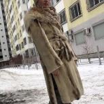 Шуба норковая с капюшоном из рыси, Екатеринбург