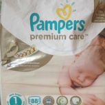 Памперсы Pampers premium care 1, 2-5 кг, Екатеринбург