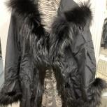 Продам итальянское пальто с чёрной лисой, Екатеринбург