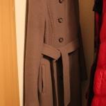 Пальто демисезонное c кашемиром. Размер 44, Екатеринбург