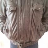 Куртка мужская кожаная зимняя HUGO BOSS р.М, Екатеринбург