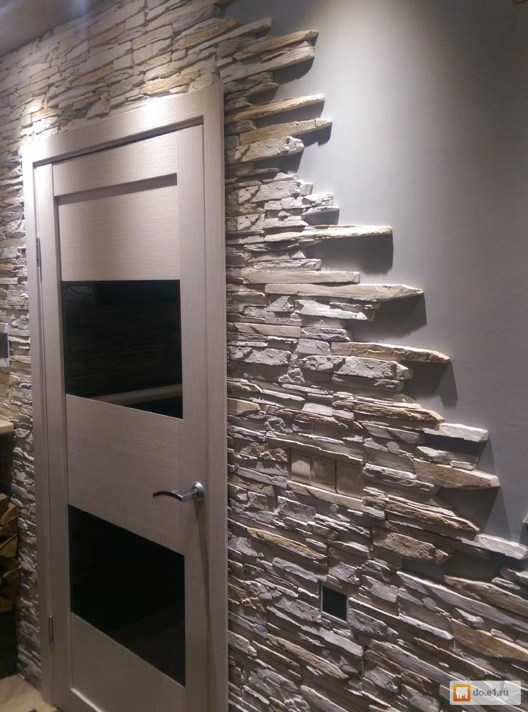 наши мужчины, фото отделка декоративным камнем дверей на кухне посетителей