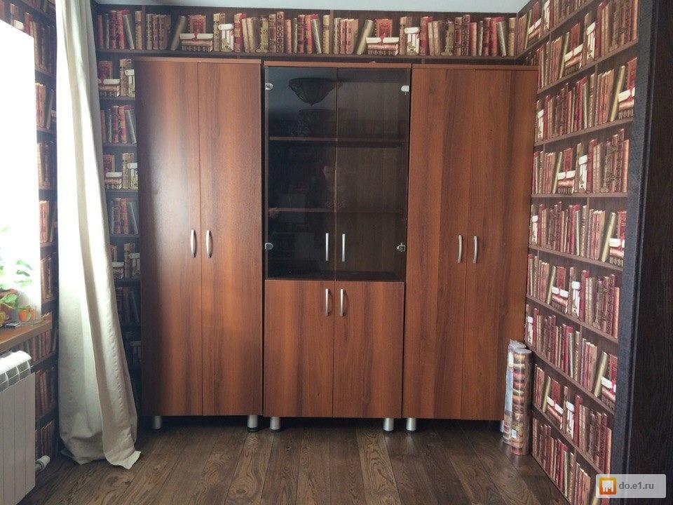 Книжная стенка ( 3 шкафа ) + письменный стол , фото. цена - .
