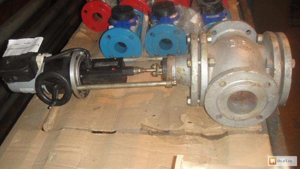 Клапан запорный с электроприводом без электродвигателя