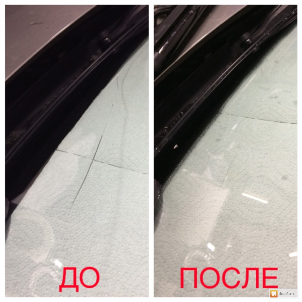 Как самому заделать трещину на лобовом стекле