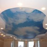 Натяжной потолок. Пленка ПВХ. Рисунок облака. Ширина 3,2м., Екатеринбург