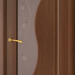 Межкомнатная шпонированная дверь со стеклом. Флоренция шт, Екатеринбург