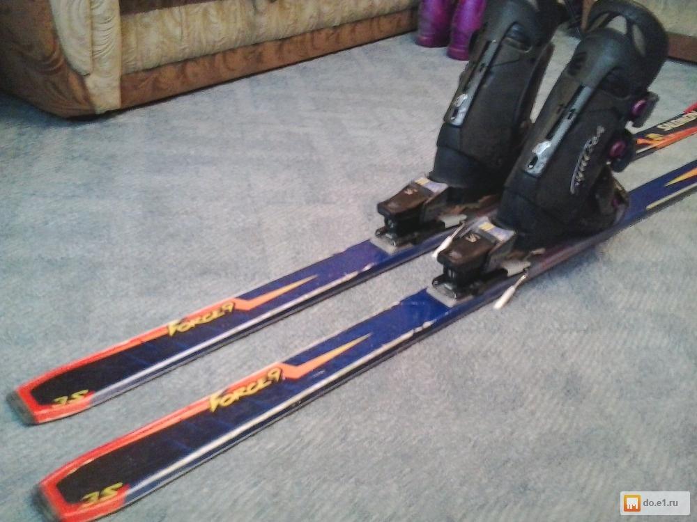 купить горные лыжи с ботинками б у так пятнам