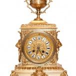 Антикварные часы из бронзы Франция сер. 19 века, Екатеринбург