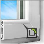 Энергоэффективное окно teplowin 600 estetic1300*140, эстетический диза, Екатеринбург