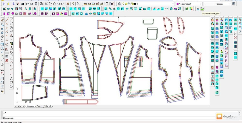 5e95e0e2dc0 Предлагаю услуги по разработке лекал одежды любой сложности на базе САПР.  Техническое размножение по размерам и ростам. Разработка моделей одежды по  эскизу ...